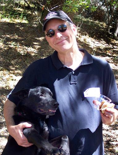 ode, with kathbran's dog, Stella.