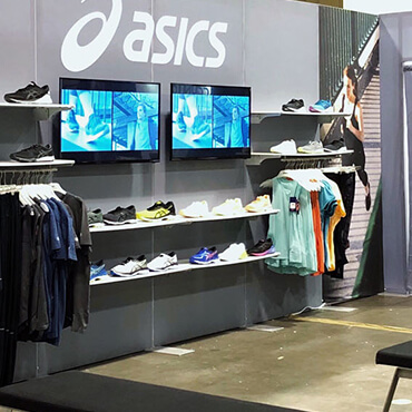 ASICS in-store point of sale installation