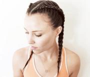 boxer braid workout hairstyle