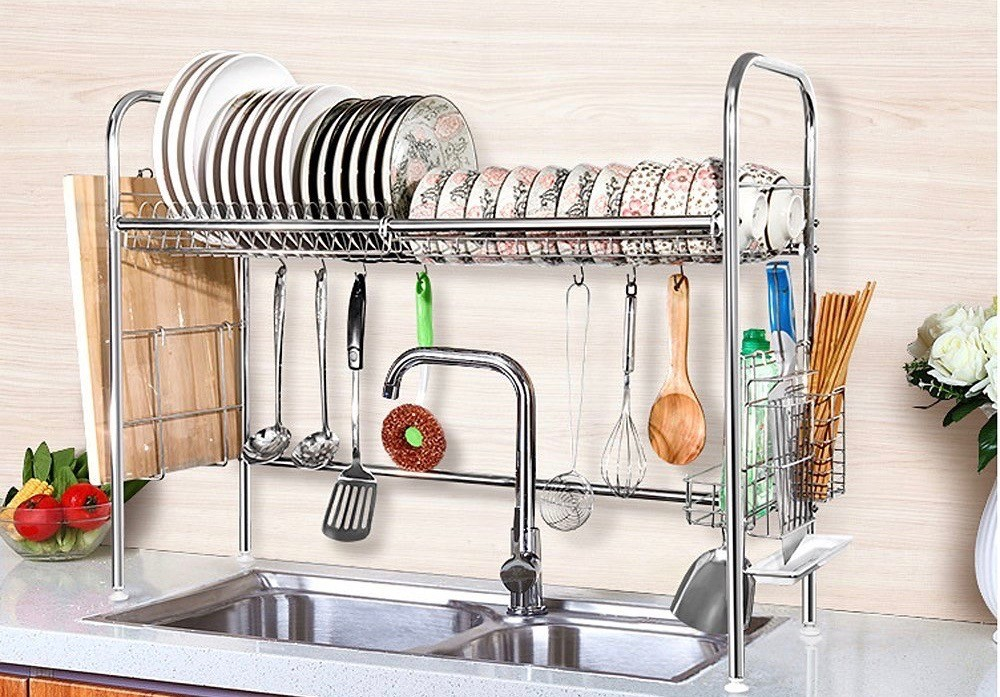 kitchen drying rack wallpaper for this is the best dish small spaces well good thumbnail have a tiny genius will change your life