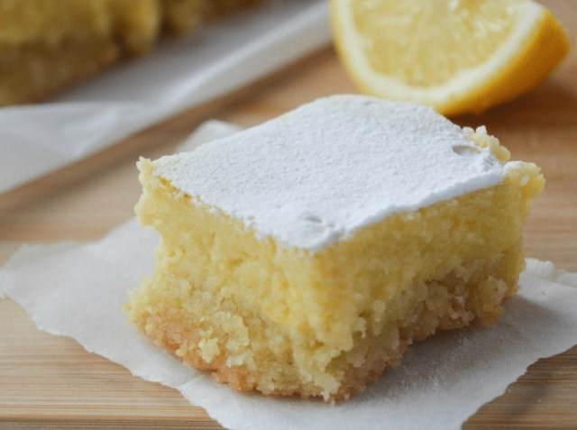 low-glycemic lemon bars