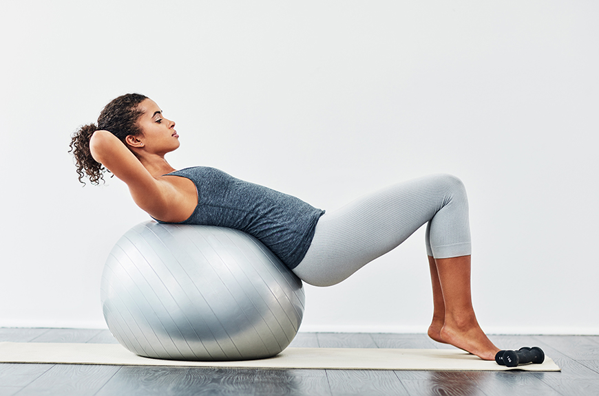 The exercise ball back stretches you should be doing daily ...