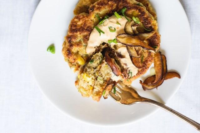 Savory Corn Pancakes, savory pancake recipes