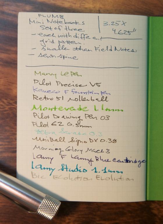 Mini Notebooks writing sample