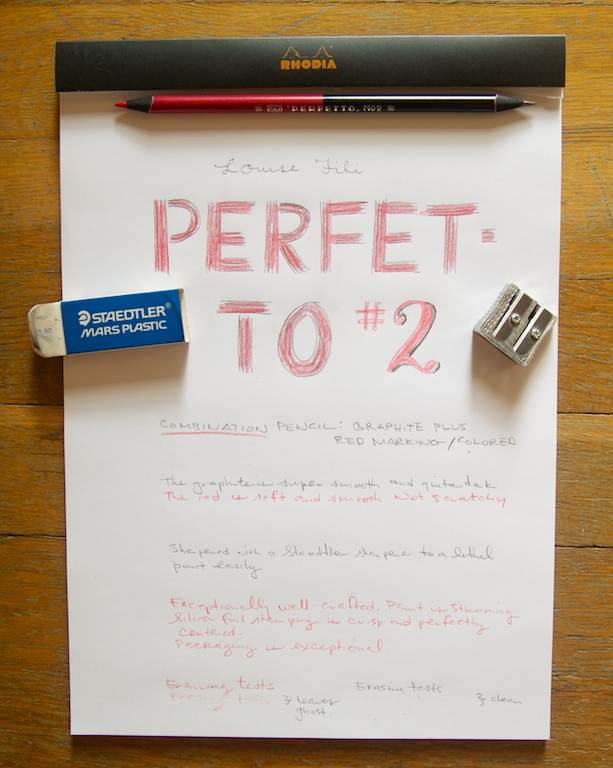 Perfetto Pencil writing sample