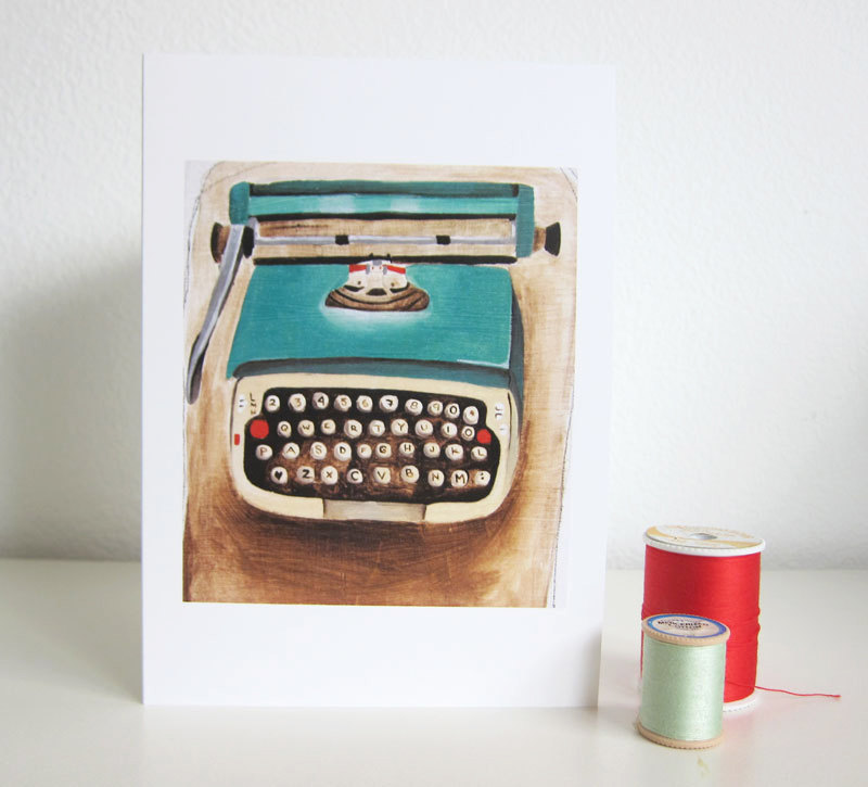 Typewriter note card