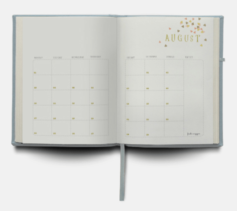 Frankie Diary 2015 monthly calendar view