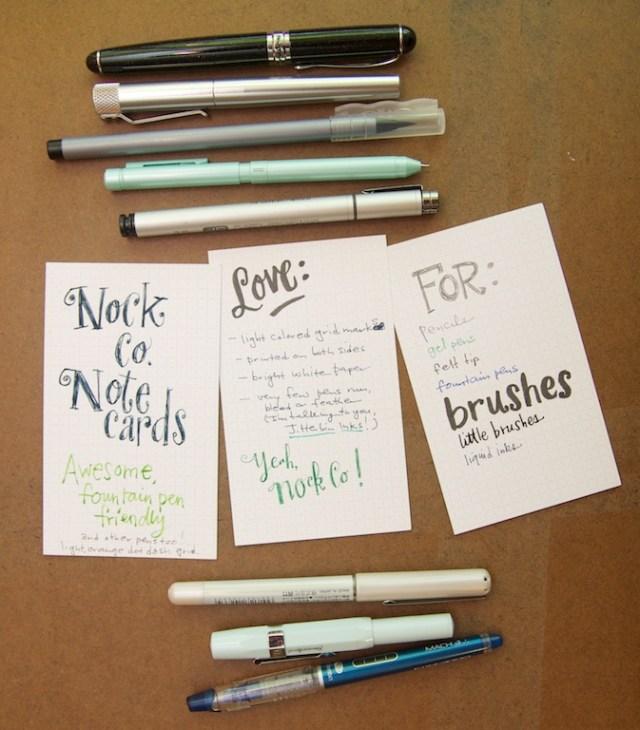 Nock Co Dot Dash Writing samples