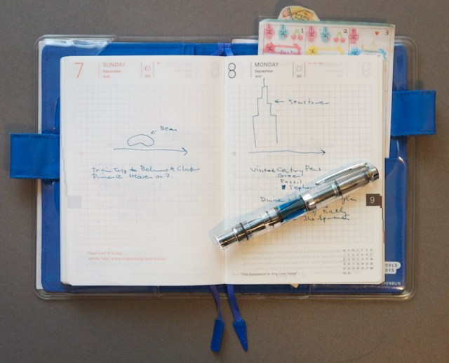 My Hobonichi Techo Planner 2014 inside