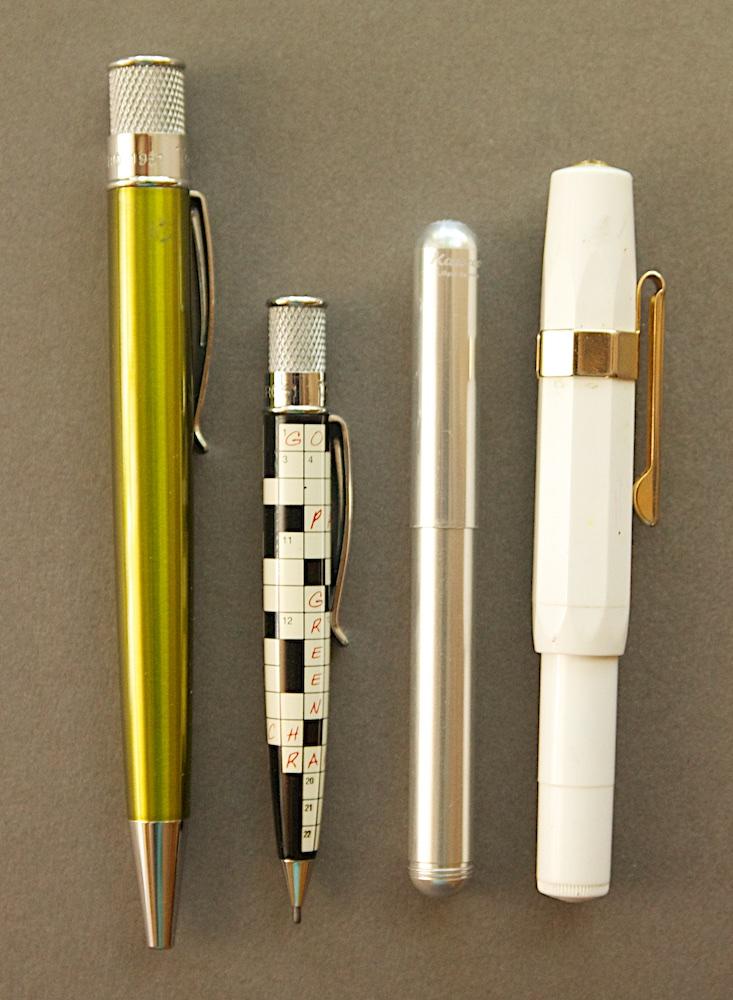 Mini Retro 51 pencil size comparison