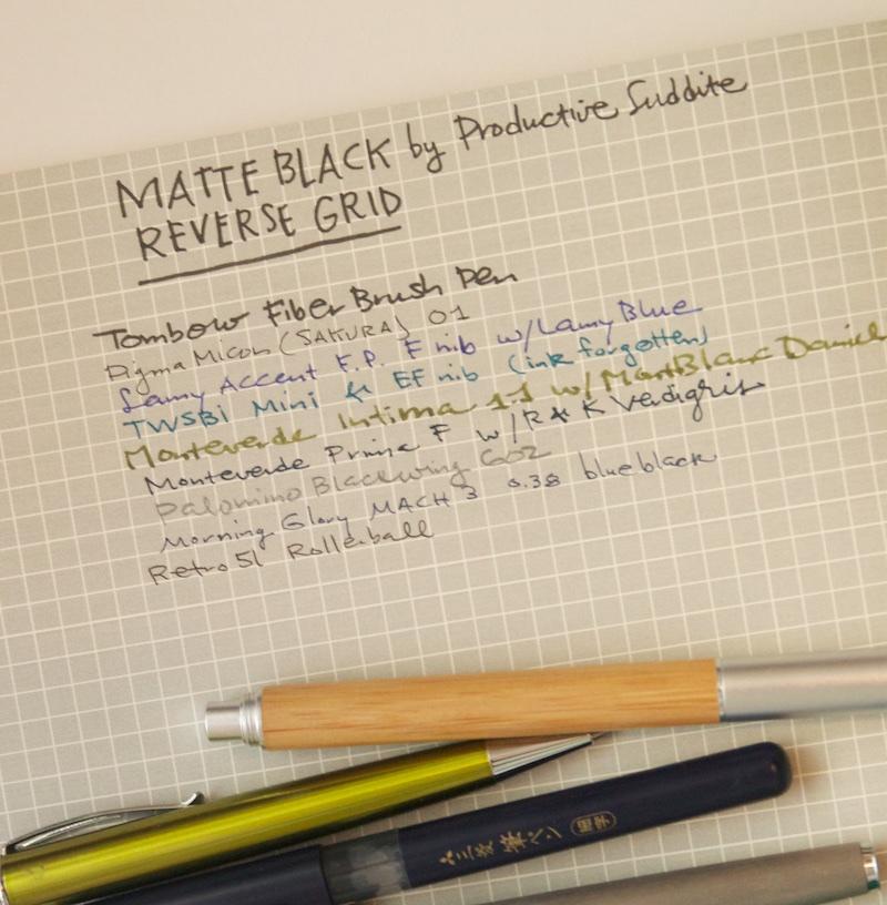 Productive Luddite Matte Black Sampler Notebook