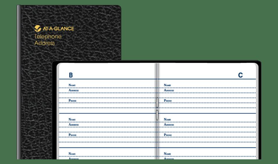 At-A-Glance Pocket Telephone Address Book