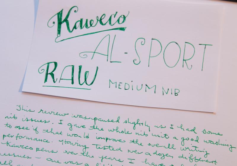 Kaweco AL-Sport RAW writing sample