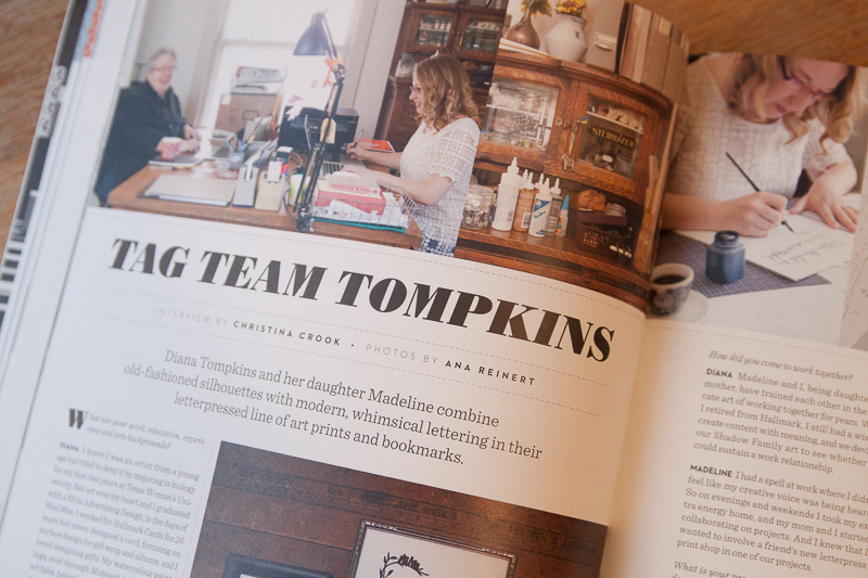 Uppercase Magazine #23 Calligraphy Tag Team Tompkins