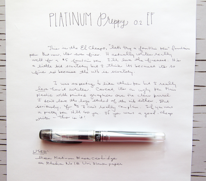 Platinume Preppy EF 0.2 fountain Pen