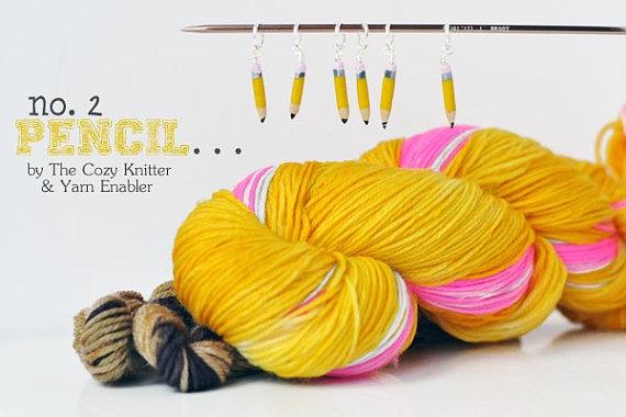 pencil socks yarn kit by Yarn Enabler