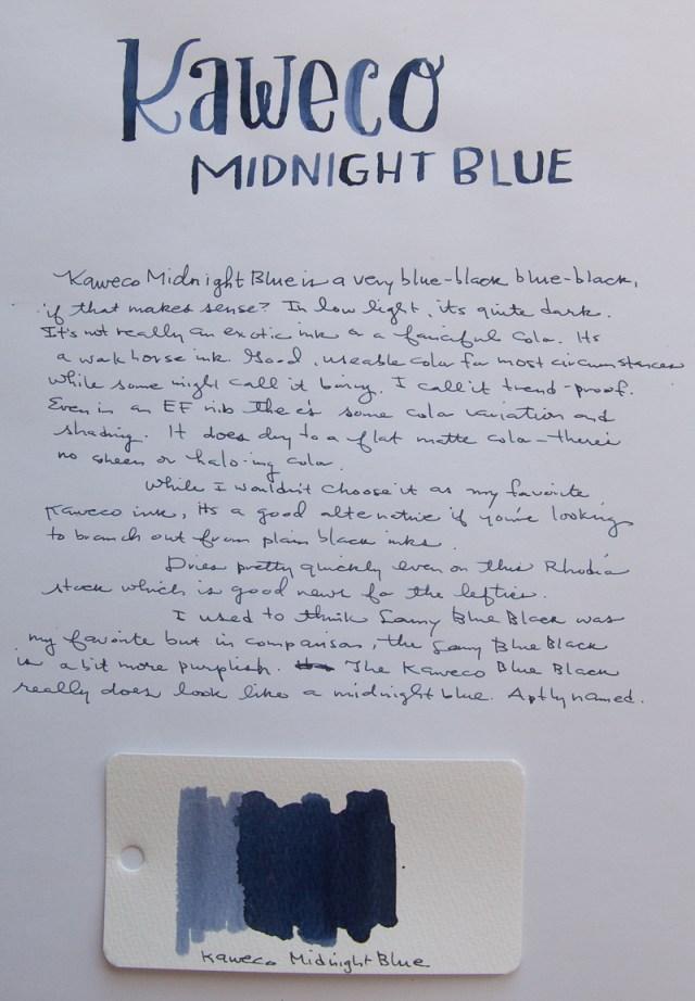 Kaweco Midnight Blue ink