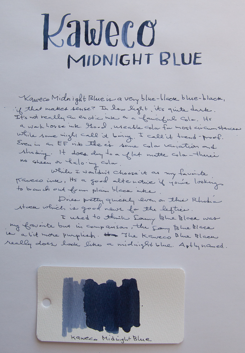 Kaweco Midnight Blue ink