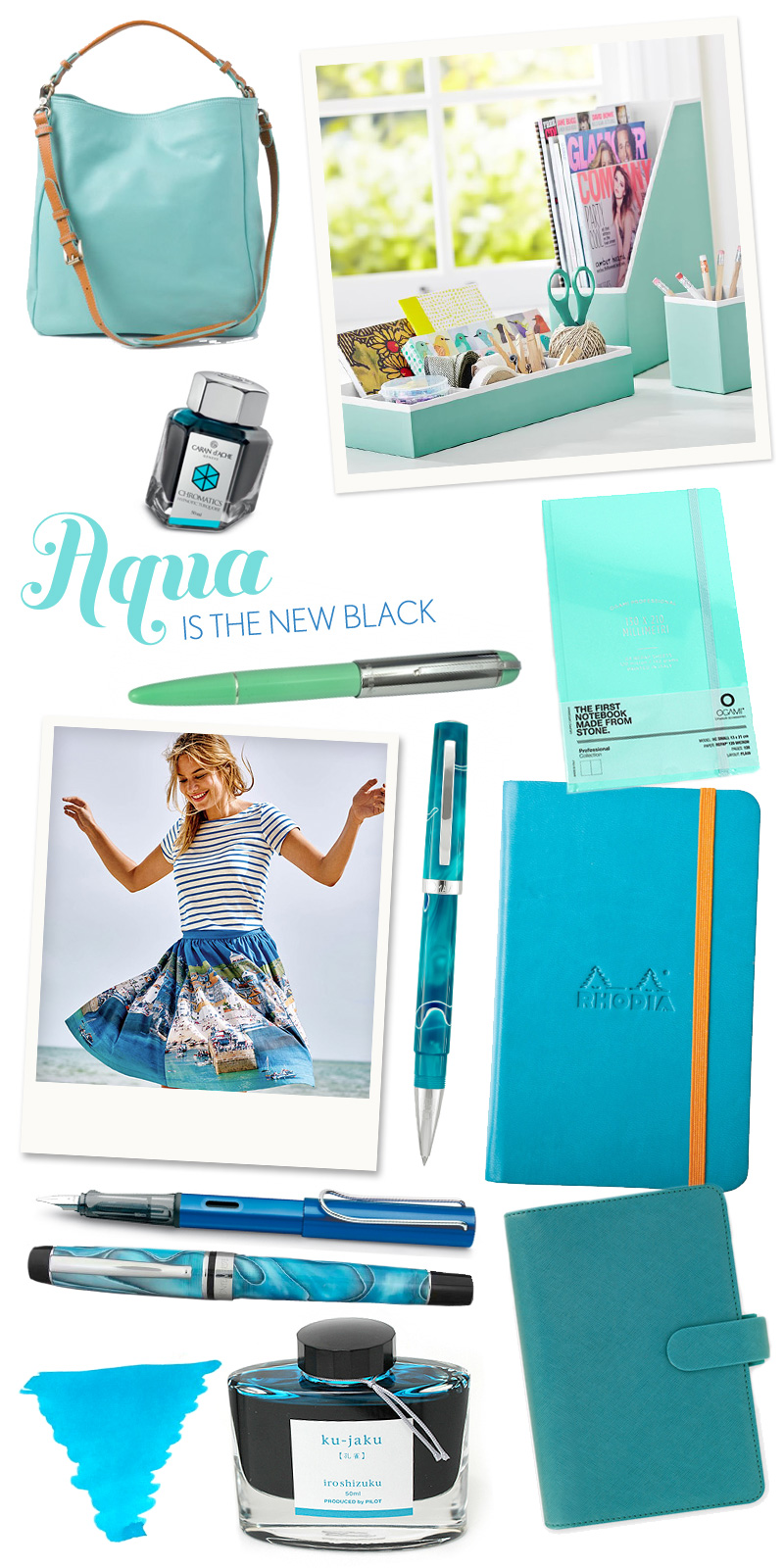 Fashionable Friday: Aqua ins the new black