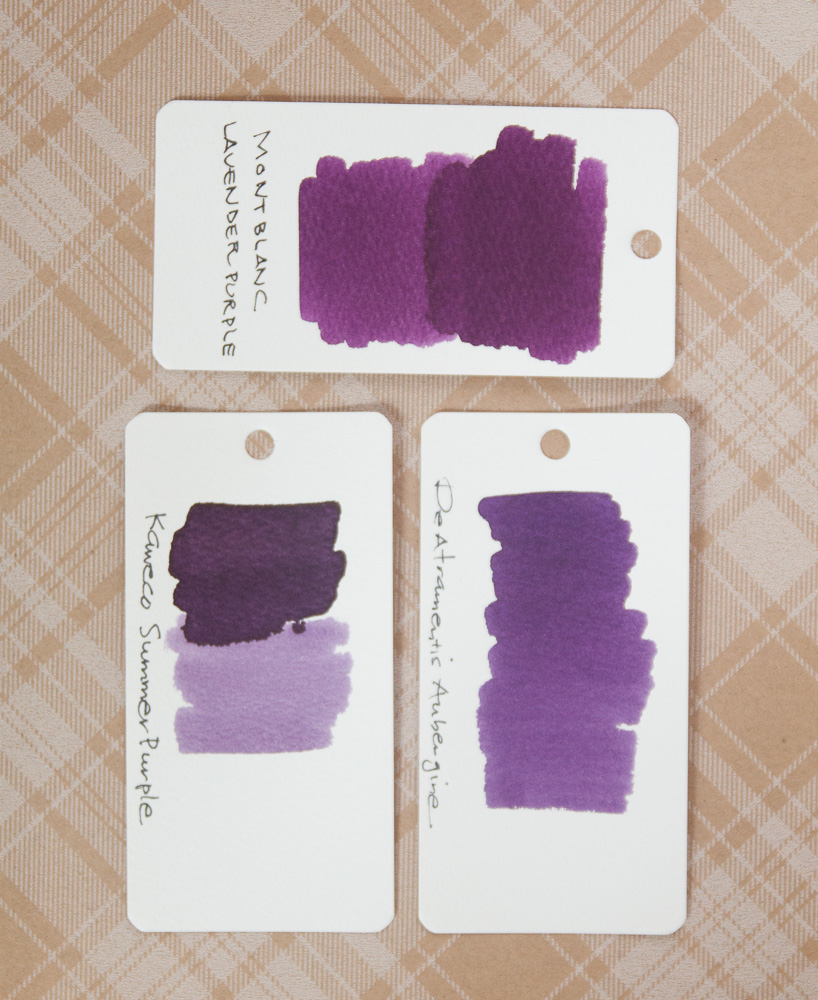 Montblanc Lavender Purple ink swab comparison