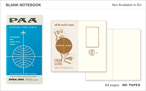 MTN Pan Am Edition Blank Notebook