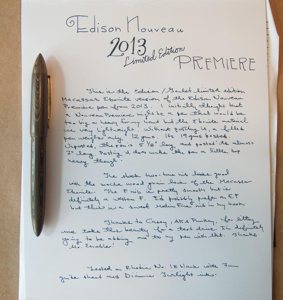 Edison Nouveau Premiere 2013