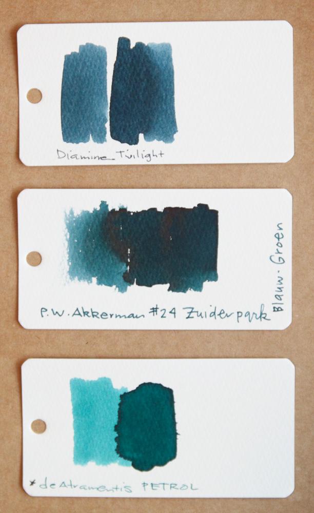 Akkerman Zuiderpark Blauw-Groen Ink Comparison