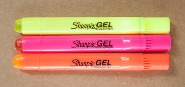 Sharpie Gel Highlighters
