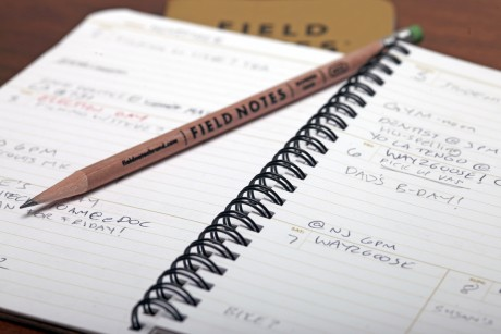 Field Notes Planner in use