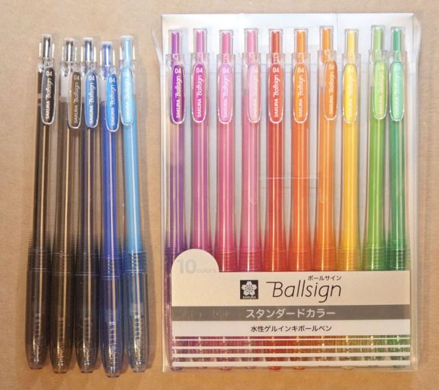 Sakura Ballsign 0.4 pen set