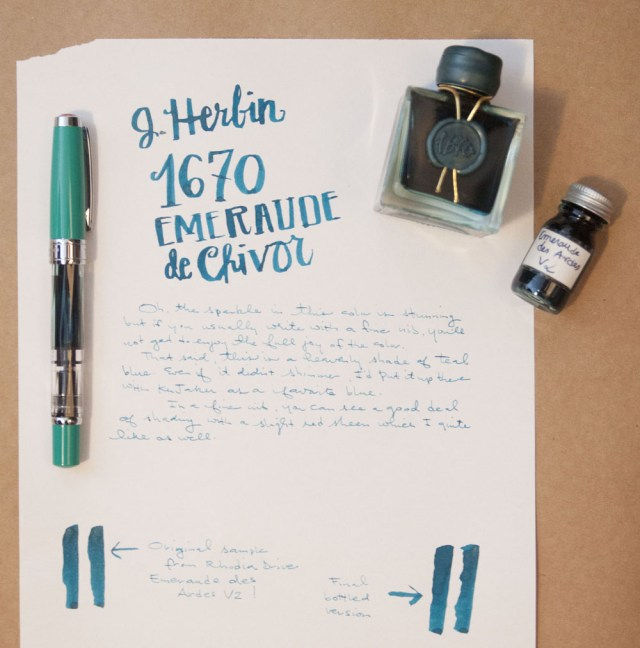 J. Herbin 1670 Emerald of Chivor