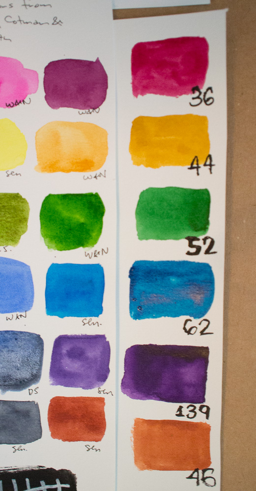 Kuretake Gansai Tambi Watercolor Palette Comparison