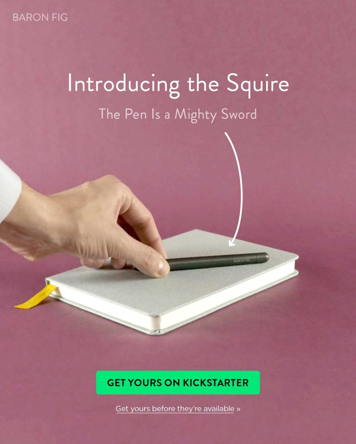 Baron Fig Squire Kickstarter