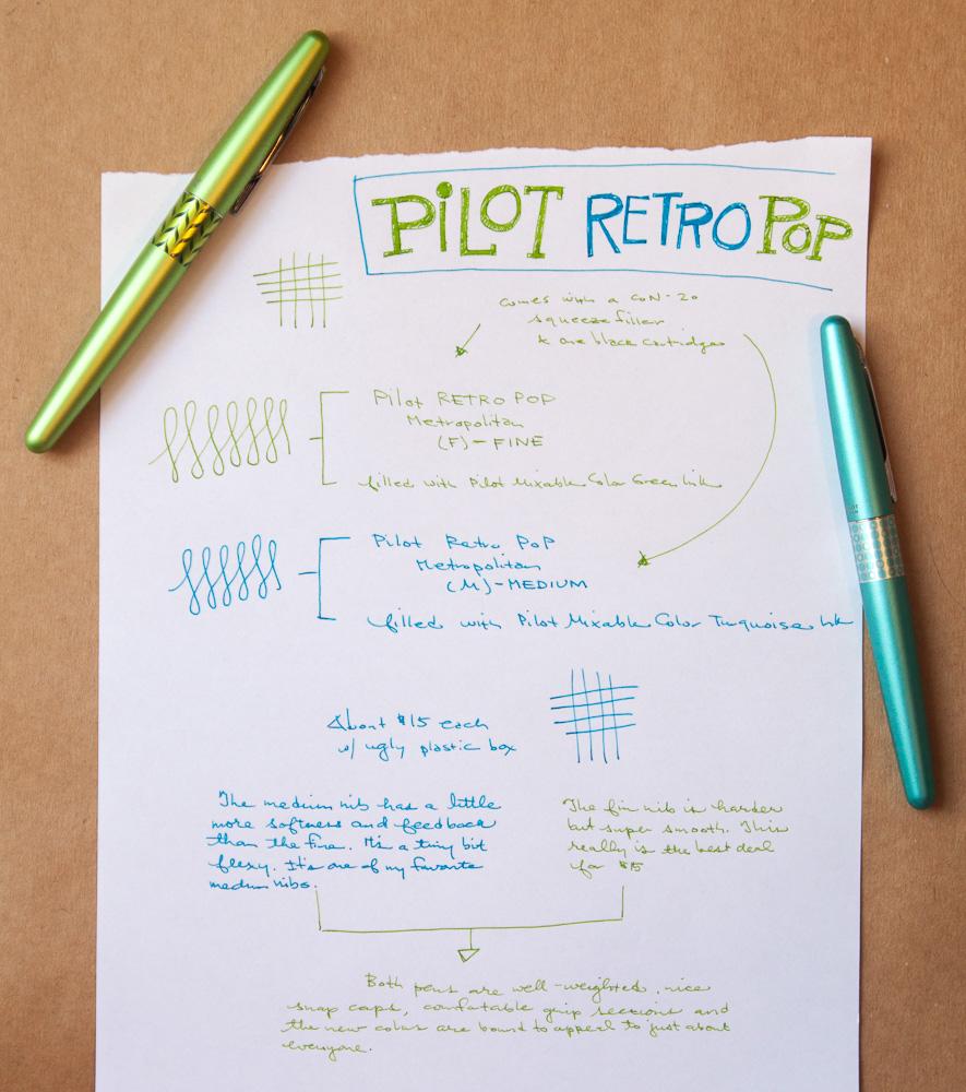 Pilot Metropolitan Retro Pop Fountain Pens