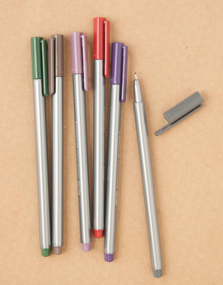 Staedtler nature colors triplus fineliner markers