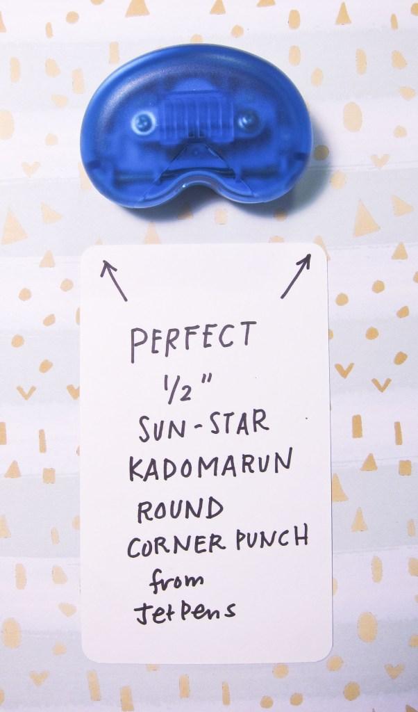 Sun-Star Kadomarun Round Corner Punch