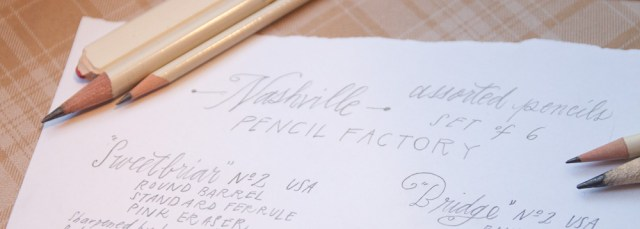 Pencil Factory Nashville Pencil Set close-up