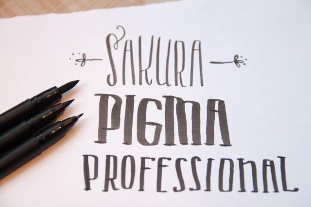 Sakura Pigma Professional Brush Pens close-up