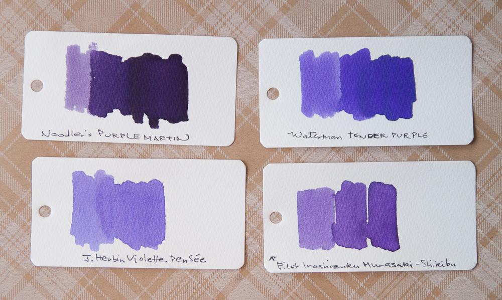 Waterman Tender Purple Ink comparison