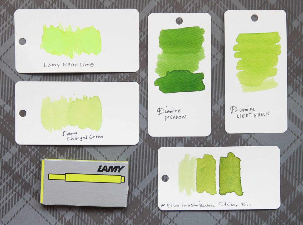 Laym AL-Star Charged Green Ink Comparison