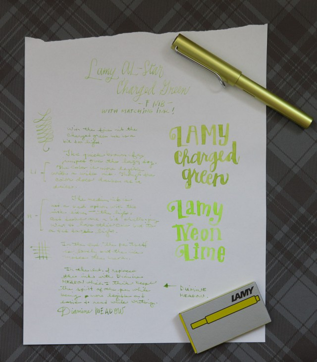 Laym AL-Star Charged Green Writing Test