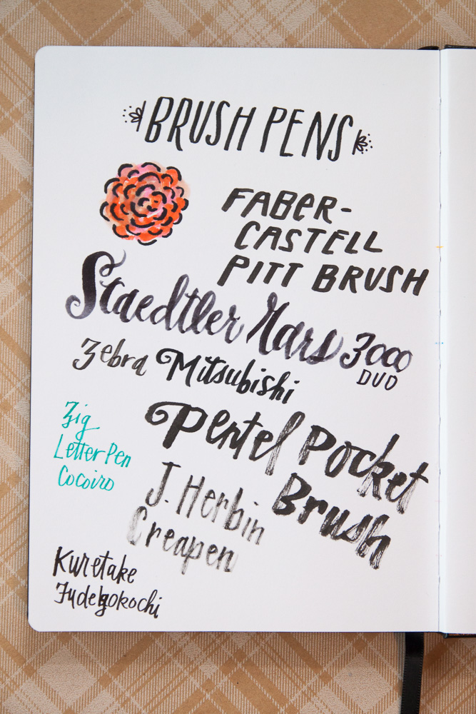 Leuchtturm1917 sketchbook brush pen test