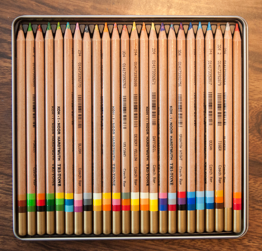 Koh-i-noor tri-tone colored pencils