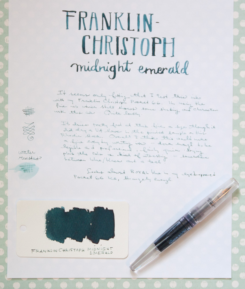 FC- Midnight Emerald writing sample