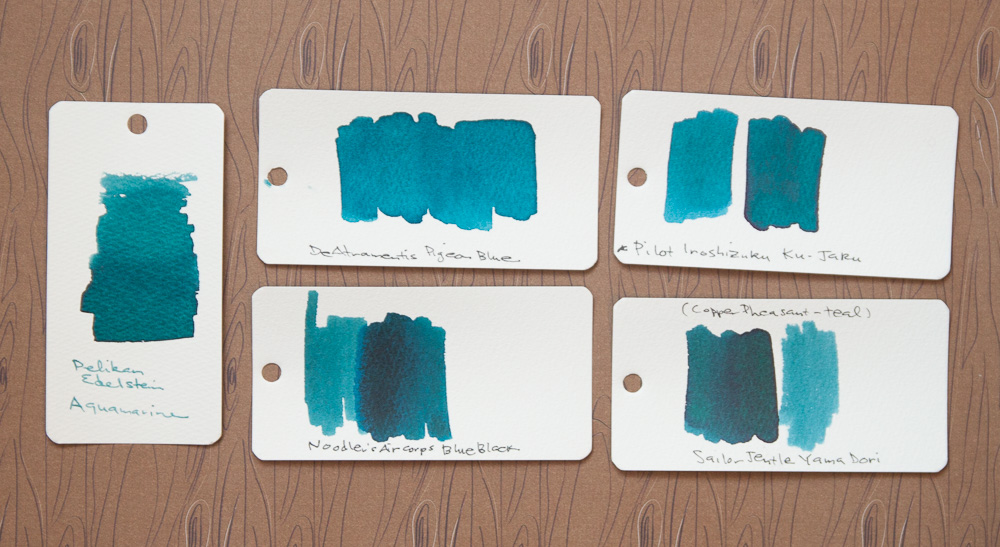 Pelikan Edelstein Aquamarine ink comparisons
