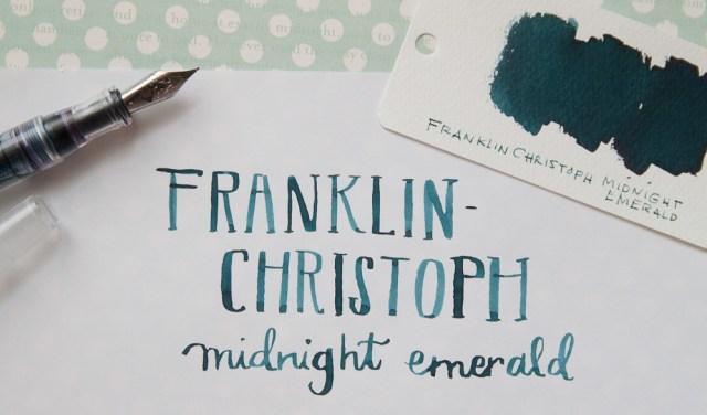 Franklin-Christoph Midnight Emerald Ink