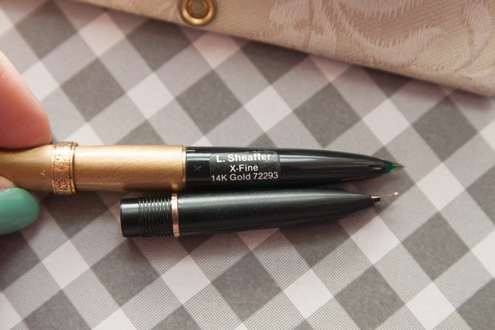 lady sheaffer gold fine nib