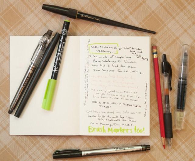 Apica C.D. Premium Notebook A6 writing sample