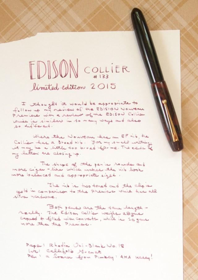 Edison Collier LE 2015 Writing Sample