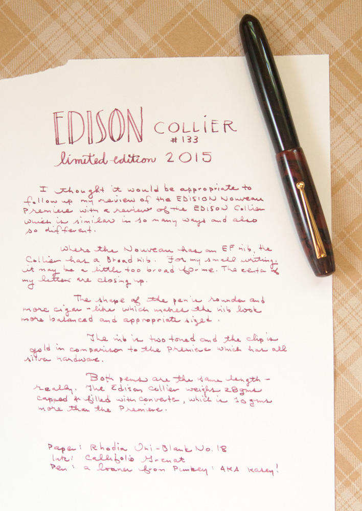 Edison Collier LE 2015 Writing Sample